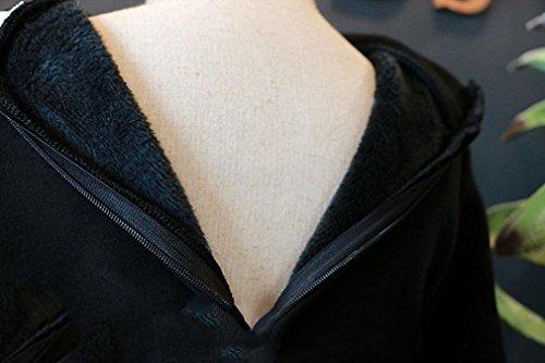 IGEMY Kleinkind Mädchen lange Hülsen Normallack Mengen-warme Kleid Kleidung Schwarz