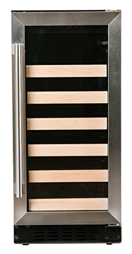 - Azure 15 Inch Wine Cooler With Stainless Steel Trim Glass Door, A115WC-S
