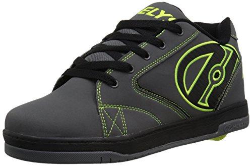Heelys Men's Propel 2.0 Fashion Sneaker, Grey/Black/Bright Yellow, 12 M US