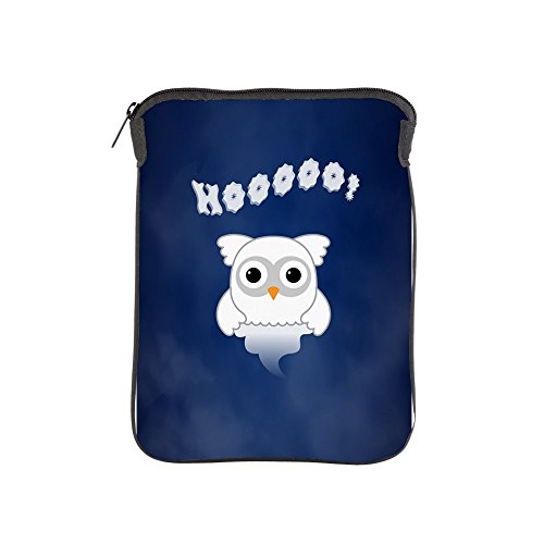 iPad 1 2 3 4 Air II Sleeve Case (2-Sided) Spooky Little Ghost Owl in the Mist -