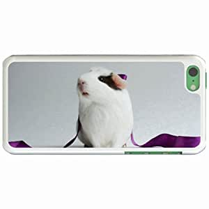 Personalized Apple iPhone 5C Back Diy PC Hard Shell Case Guinea Pig White