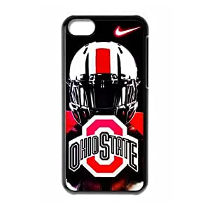 DIY Design Dream 10 Sports NCAA Ohio State Buckeyes Footballl Print Black Case With Hard Shell Cover for Apple iPhone 5C-Just DO It