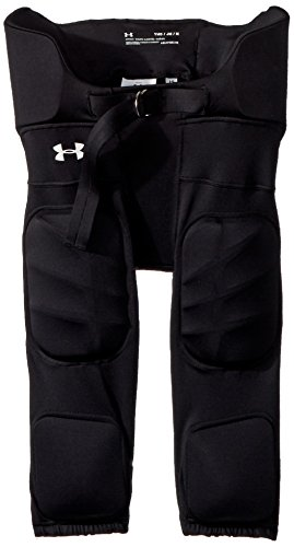 Under Armour Boys' Youth Integrated Pants, Black (001)/White, Youth Large