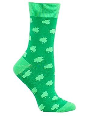 Women's St. Patrick's Day Socks - Funny Green St. Paddy's Socks w/Pocket for Women