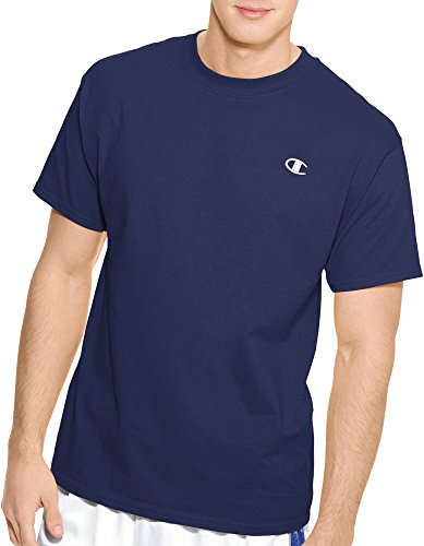 Champion Men's Jersey T-Shirt (Navy 01, (Champions Navy Short Sleeve T-shirt)
