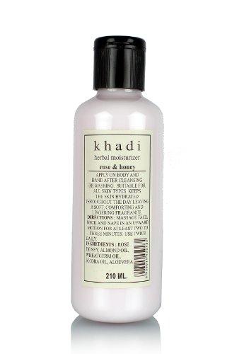 Khadi Moisturising Lotion, Rose and Honey, 210ml
