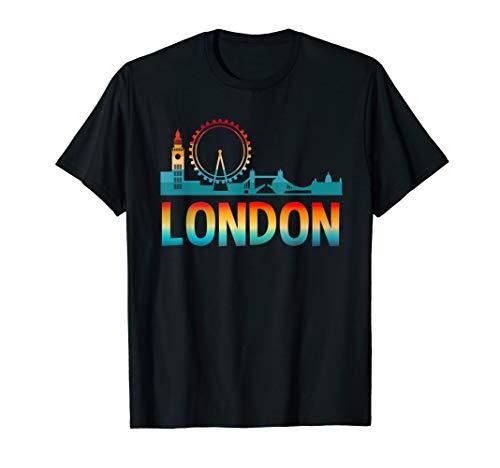 Vintage Retro London Skyline UK Britain City Trip Gifts ()