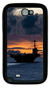 Aircraft Carrier Us TPU Rubber Samsung Galaxy Note 2/ Note II/ N7100 Case Cover - Black