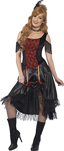 [Saloon Girl Costume Small Uk Dress 8-10] (Saloon Girl Adult Womens Costumes)