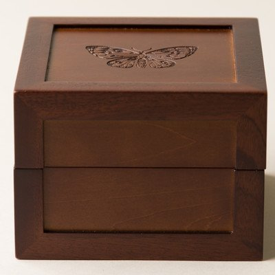 Hives and Honey Butterfly Motif Medium Jewelry Box, bee gifts for her