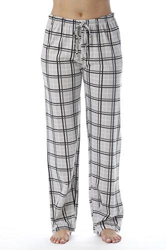 Just Love Women Plaid Pajama Pants Sleepwear 6324-GRY-10281-1X