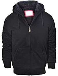 Mens Performance Full Zip Outdoor Heavy Fleece Hoodie Jacket