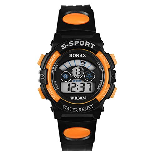 WUAI Men's Chronograph Waterproof Sport Watch Fashion Analog Digital Military Quartz Wristwatch