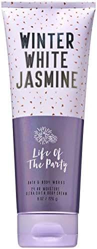 Bath and Body Works WINTER WHITE JASMINE Ultra Shea Body Cream 8 Ounce (2018 Limited Edition)