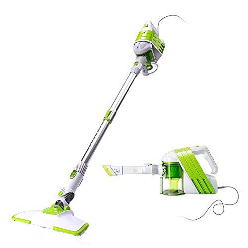 PUPPYOO Stick Vacuum Cleaner Electric Brooms 2 in 1 270 Degrees Rotatable Brush Great Suction Lightweight Ergonomic Vacuum Cleaner Pet