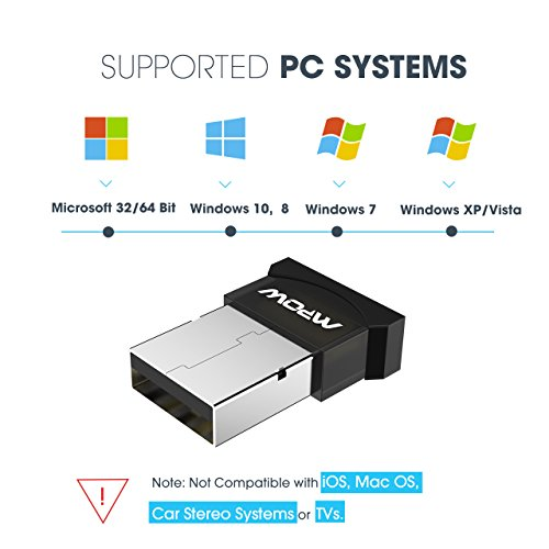 Large Product Image of Mpow Upgraded Bluetooth USB Adapter for PC, Bluetooth Dongle for Computer/Laptop Compatible Windows 7, 8, 8.1, 10, Vista, XP to Connect Bluetooth Headphones/Headset/Speakers/Mouse/Keyboard/Smartphone