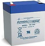Power-Sonic PS-1242 Sealed Lead Acid (VRLA) 4,5 Ah 12 V - Batteries de l'onduleur (Sealed Lead Acid (VRLA), Bleu, Gris, 4,5 Ah, 12 V, 1 pièce(s), 5 année(s))