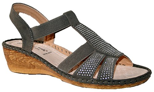 Cushion Walk - Sandalias de vestir de Material Sintético para mujer grey elastic