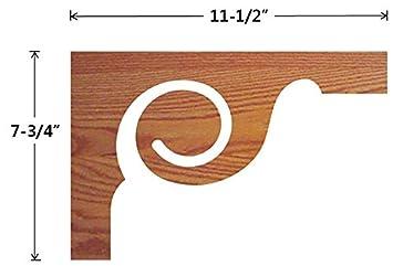 7029 Decorative Victorian Oak Veneered Wood Scroll Stair Skirting Bracket