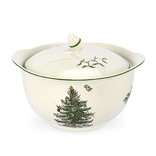 Spode Christmas Tree Individual Casserole with Handle, 4-Inch (Spode Queens)