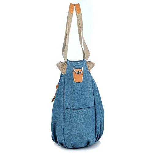 Main Blue Shopping Dames tout Plage Top À Sac Femmes Bandoulière Casual Multifonction Sacs Poignée Fourre Vintage CaqZUW
