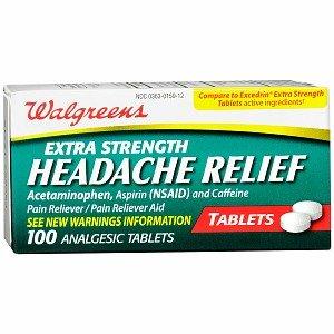 Walgreens Headache Relief Tablets, 100 ea (Headache Relief Tablets)