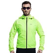 Santic Men's Windproof UV Protection Cycling Jacket Long Sleeve Wind Coat Blue
