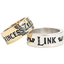 The Legend of Zelda Link and Princess Zelda His and Hers Ring Set Boxed