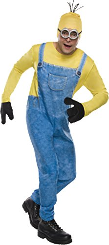 Movie Group Halloween Costumes (Rubie's Men's Minion Movie Minion Costume, Kevin, Standard)
