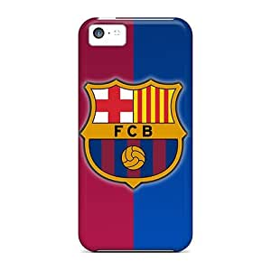 Durable Hard Phone Cover For Iphone 5c (mQl10176WKZK) Unique Design Stylish Fc Barcelona Pattern
