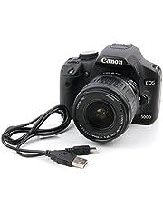 Duragadget - Cavo di sincronizzazione dati digitale mini USB, adatto per l'uso con Canon EOS 1D X, 5DS R, 5DS, 5D, 550D, 6D, 600D, 60D, 7D, 760D, 750D, 700D, 80D e 1300D
