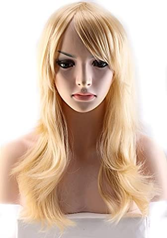 Womens's Medium Full Head Golden Blonde Hair Wigs Big Wave Cosplay Full Wig by UPS (299 Days Volume 2)