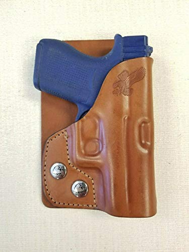 Braids Holsters Left Hand Brown Leather Wallet & Pocket Holster Choose Gun (for Gun Model Diamond Back Db9)