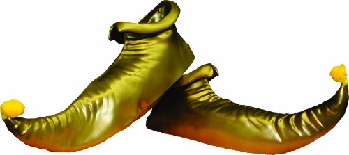 Alexanders Costumes Elf Shoes, Gold, One Size