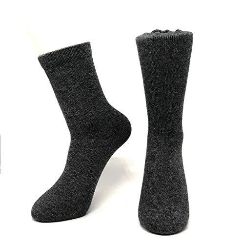 Mongolia Pure Cashmere Thick Women Woman Men Man Unisex Crew Mid Calf Causal Socks(1 pairs) (Dark Gray)