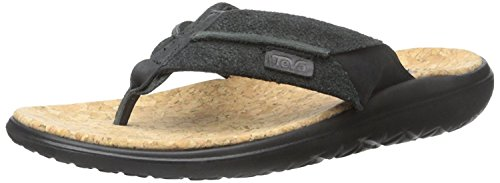 at Lux Leather Flip Flop Black 11.5 (Cork Leather Flip Flops)