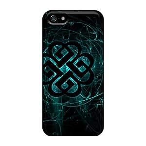 Shock Absorption Cell-phone Hard Cover For Apple Iphone 5/5s (wmK18Igjz) Custom Vivid Breaking Benjamin Pattern