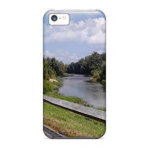 Fashionable Style Case Cover Skin For Iphone 5c- Bike Path View