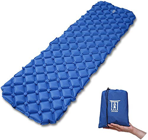My Ronin Ultralight Outdoor Sleeping Pad, Inflatable, Moisture-Proof, with Bag, Compact for Camping, Backpacking, Hiking, Tents, Traveling, Air-Support Cells Design