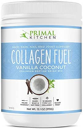 Primal Kitchen Collagen Fuel Protein Mix, Vanilla Coconut - Non-Dairy Coffee Creamer & Smoothie Booster- Supports Healthy Hair, Skin, Nails and Joints, Promotes Muscle Repair