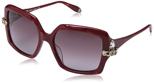 2ba274349e4df Moschino - Lunette de soleil MO769S Rectangulaire - Femme Red frame  brown  sh. Grey