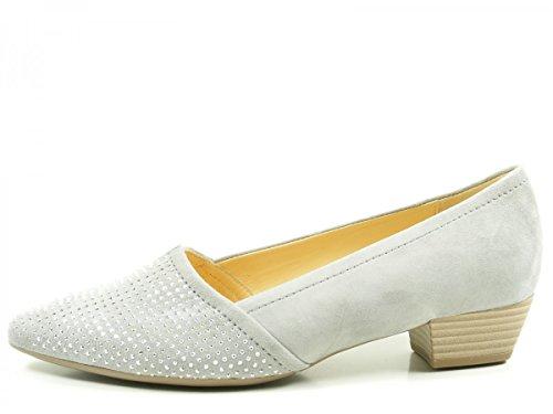 Gabor 65-134 Zapatos de tacón de material cuero mujer Grau