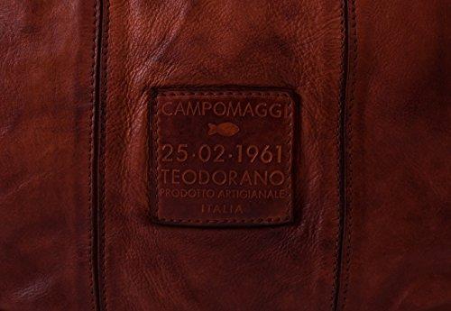 main tout Shopper fourre Campomaggi cuir cm Cognac 30 à Sac EFnIqxI64