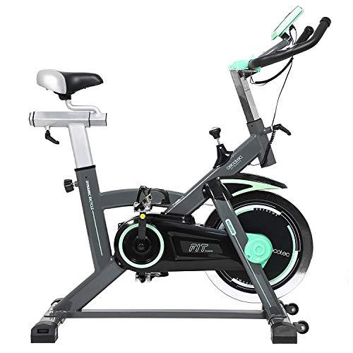 Cecotec Bicicleta Indoor Extreme 20, Volante inercia, 20 kg, Pulsómetro, Pantalla LCD, Resistencia Variable, Estabilizadores, SilenceFit, negro/gris/verde a buen precio
