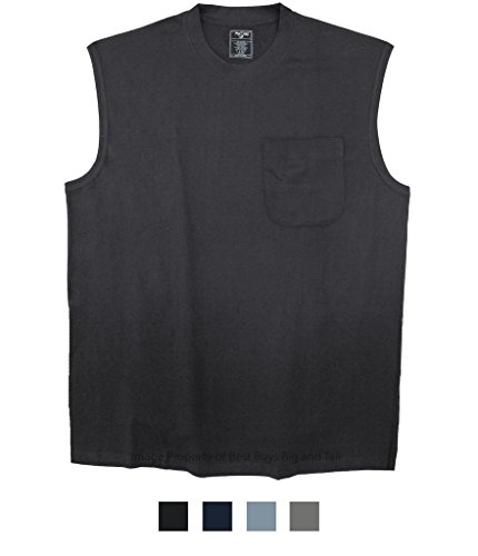 - Best Buys Big & Tall Foxfire Pocket Muscle Tee Black 5XLT #501A