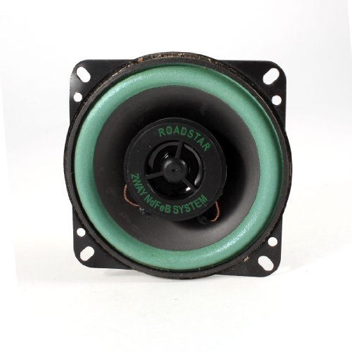 TOOGOO(R) 4' Diametro Altavoz de Audio para Coche Base Magnetica Dual Cono 008863