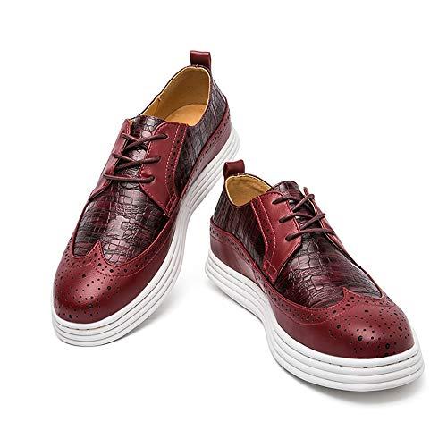 EU Basse Stringate Xujw 40 in altezza 2018 Dimensione traspirante shoes Rosso da con Scarpe Ciabatta fondo in uomo Color Nero coccodrillo spesso wqtRI8tn