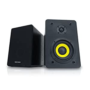 Thonet and Vander Vertrag Bluetooth 4.0 Bookshelf Speakers, Integrated Amplifier delivers 180 Watts Peak Power WORKS WITH ALEXA for total voice control, full control of Hammer Bass and Drone FX Treble