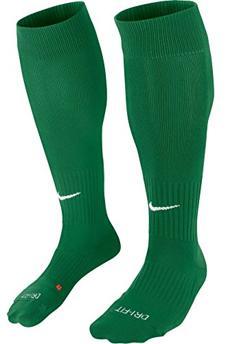 NIKE Classic II Cushion Over-the-Calf Soccer Football Sock (Pine Green/White, S) Pine Green Apparel