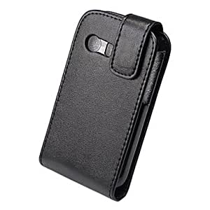 HJZ Elegant PU Leather Full Body Flip Case Cover for Samsung Galaxy Y S5360-Black